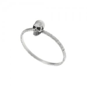 ring,skull,silver