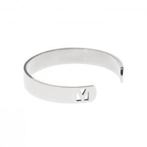 silver hex band cuff
