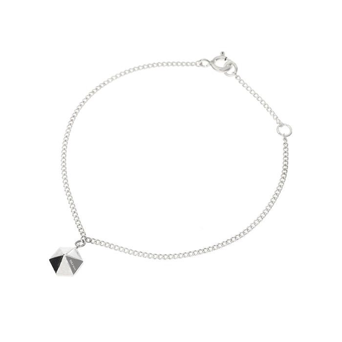 silver hex slim chain bracelet B