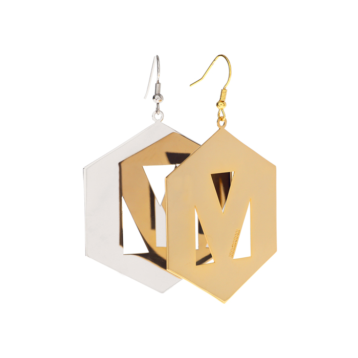 hex nuts mzuu big single earring